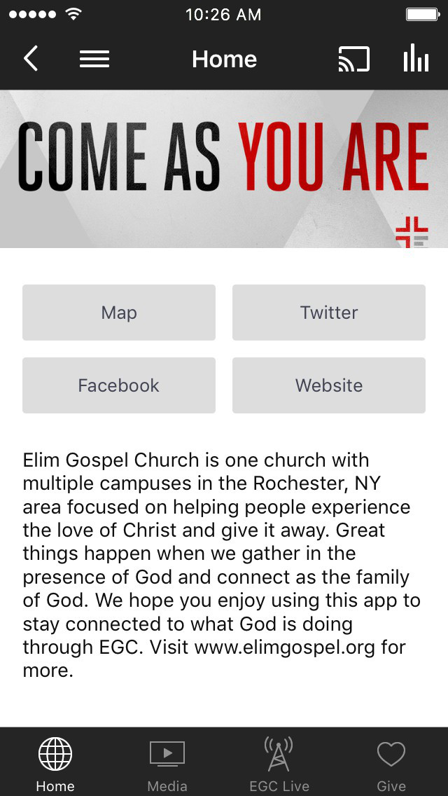 Elim Gospel Church screenshot 1