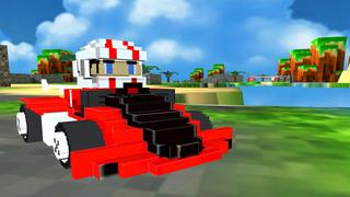 3D Super Block Kart - Blocky Pixel Go-Kart Road Racing Game Pro screenshot 1