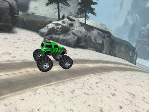 3D Monster Truck Snow Racing- Extreme Off-Road Winter Trials Driving Simulator Game Free Version screenshot 9