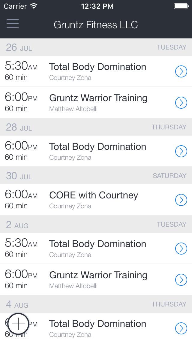 Gruntz Fitness screenshot 1