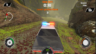 3D Off-Road Police Car Racing  - eXtreme Dirt Road Wanted Pursuit Game FREE screenshot 2