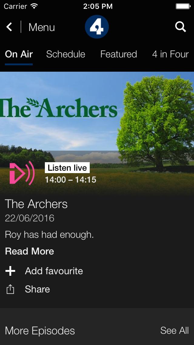 BBC iPlayer Radio screenshot 3