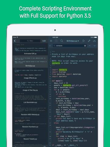 Pythonista 3 screenshot 6