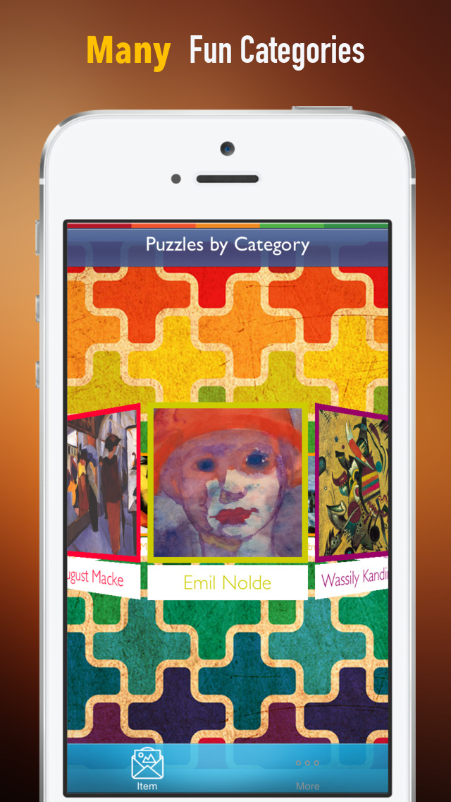 Memorize Famous Art Expressionism by Sliding Tiles Puzzle: Learning Becomes Fun screenshot 1