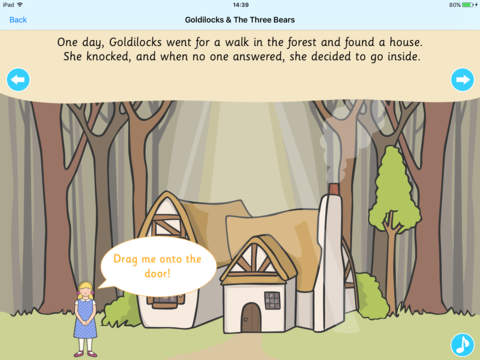 Twinkl's Goldilocks & The Three Bears (Interactive - náhled