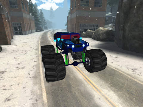 3D Monster Truck Snow Racing- Extreme Off-Road Winter Trials Driving Simulator Game Free Version screenshot 10
