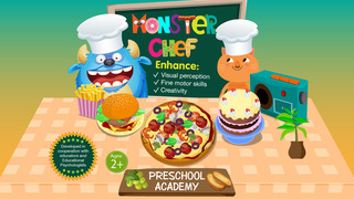 Monster Chef - Baking and cooking with cute monsters - Preschool Academy educational game for children screenshot 2