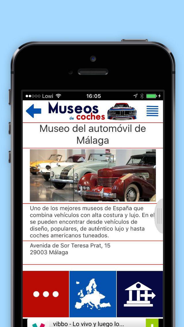 Museos de coches screenshot 1