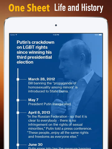 Vladimir Putin Biography and Quotes: Life with Documentary and Speech Video screenshot 7