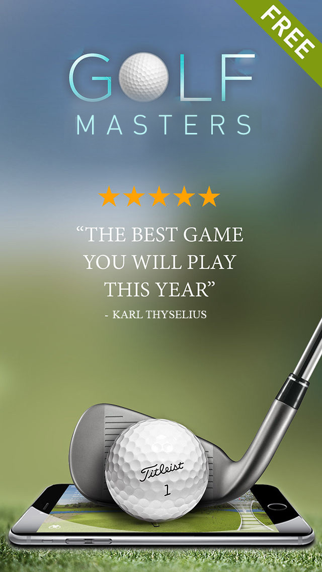 Free Golf Game - Masters Pro Tour screenshot 1