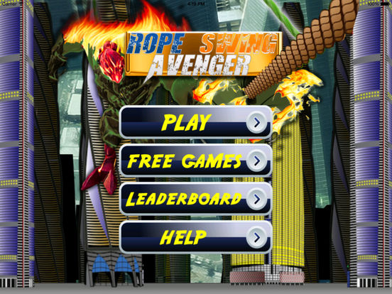 Rope Swing Avenger PRO - Fun Fly Flames Till Dawn screenshot 6
