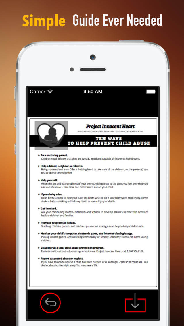 Stop Child Molestation:Tips and Tutorial screenshot 2