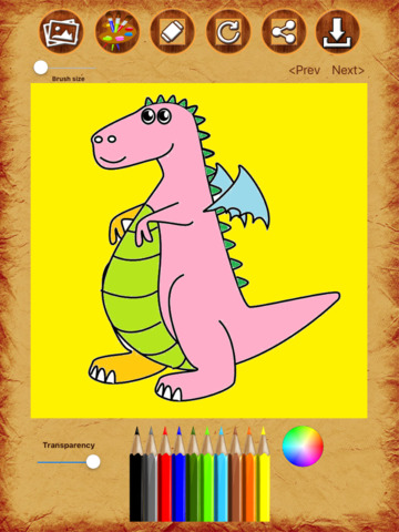 Dragon Coloring Drawing Book screenshot 8