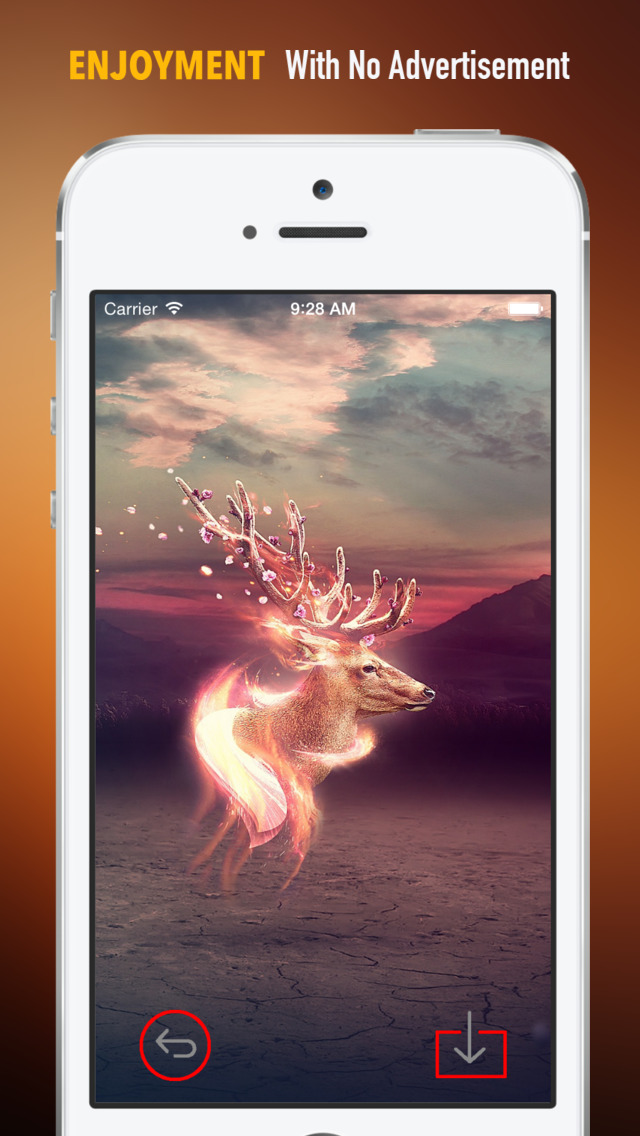Deer Wallpapers HD: Quotes Backgrounds with Art Pictures screenshot 2