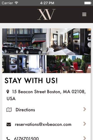 XV Beacon App - náhled