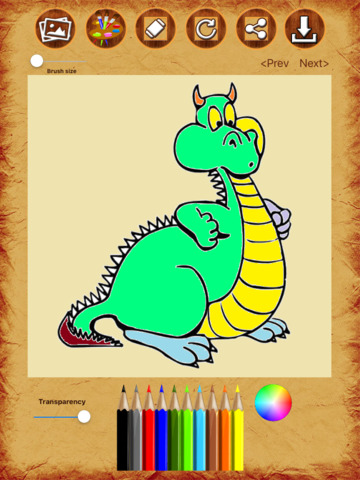 Dragon Coloring Drawing Book screenshot 7