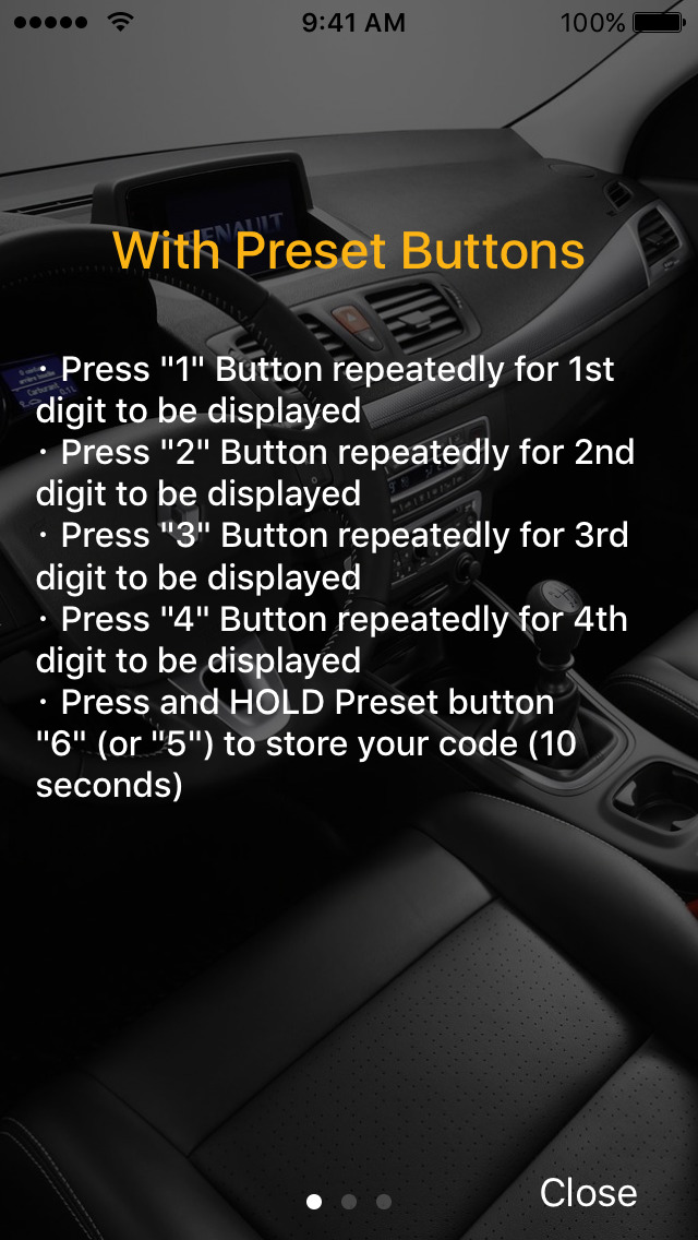 Radio Code for Renault Stereo screenshot 4