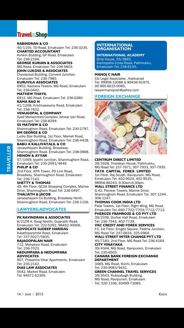 Kochi Travel & Shop Magazine screenshot 4