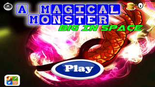 A Magical Monster Big In Space - Super Game To Jump In Space screenshot 1