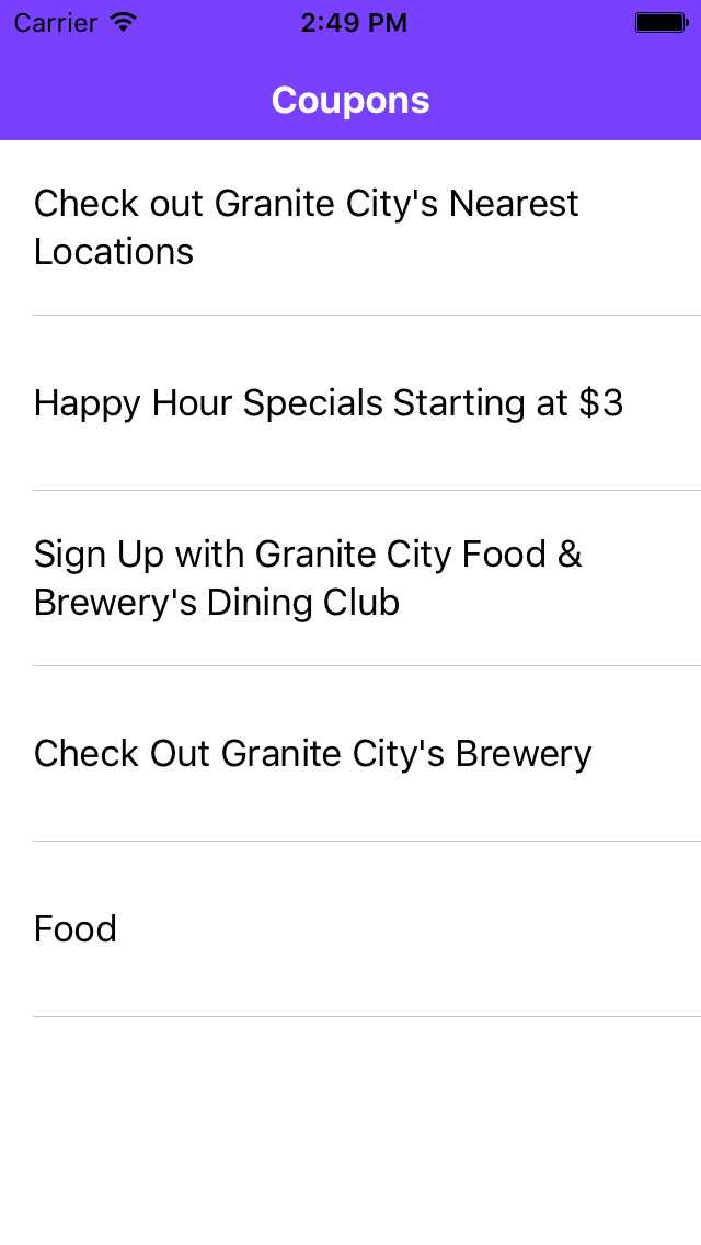 Granite City Coupons >> Coupons For Granite City Food Brewery App Apps 148apps
