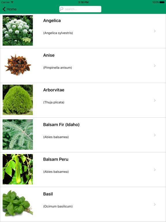 Essential Oils Bar - Ref Guide, Single & Blend Oil screenshot 8