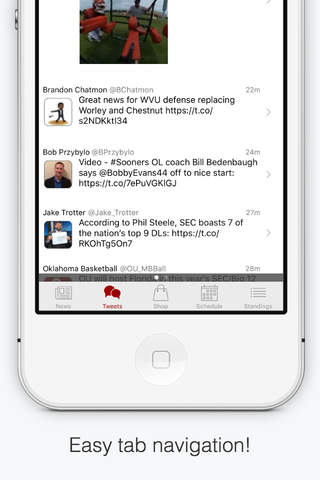 SoonerApp Oklahoma Football News - náhled