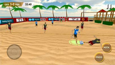 Beach Soccer 2k17 - ultimate mobile soccer hero 3D screenshot 4