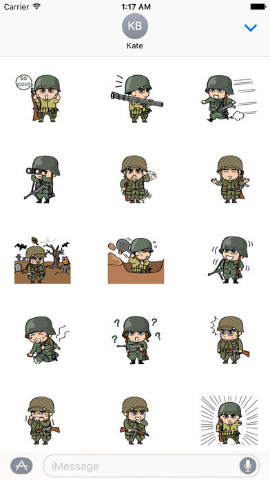 Life of Soldiers Sticker screenshot 2