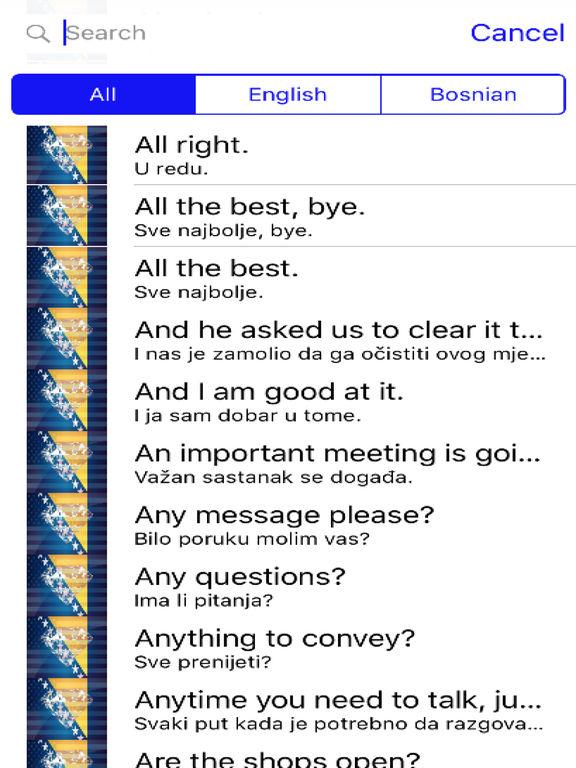 Bosnian Phrases Diamond 4K Edition screenshot 4