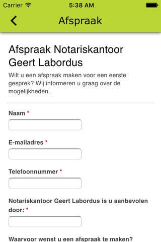 Notariskantoor Geert Labordus - náhled