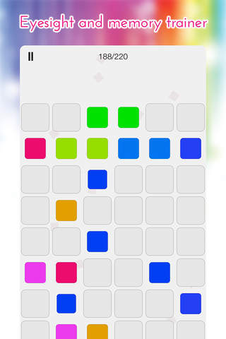 Shades Memory - find and match the colour pairs - náhled