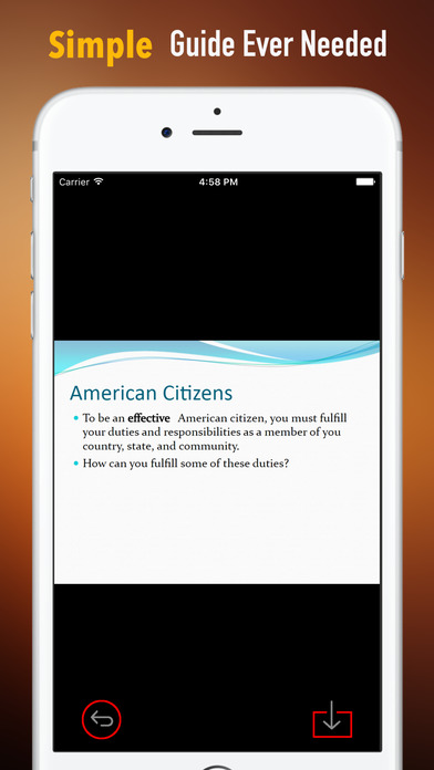 US Citizenship Test Study Guide|Glossary,Exam Prep screenshot 2