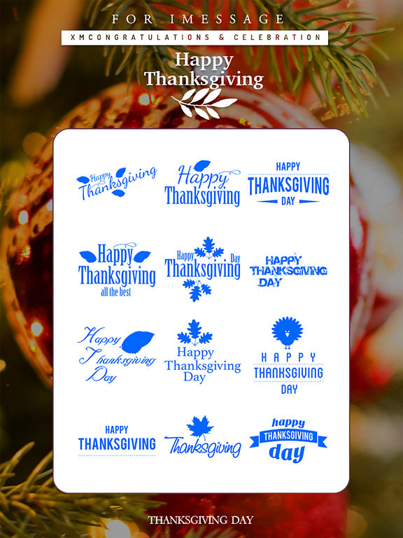 Thanksgiving Day Emoji Pro - Holiday Stickers screenshot 10