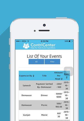 ContriCenter - Helps You Keep Track of Your Expend - náhled