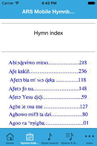 New ARS Hymnbook - náhled