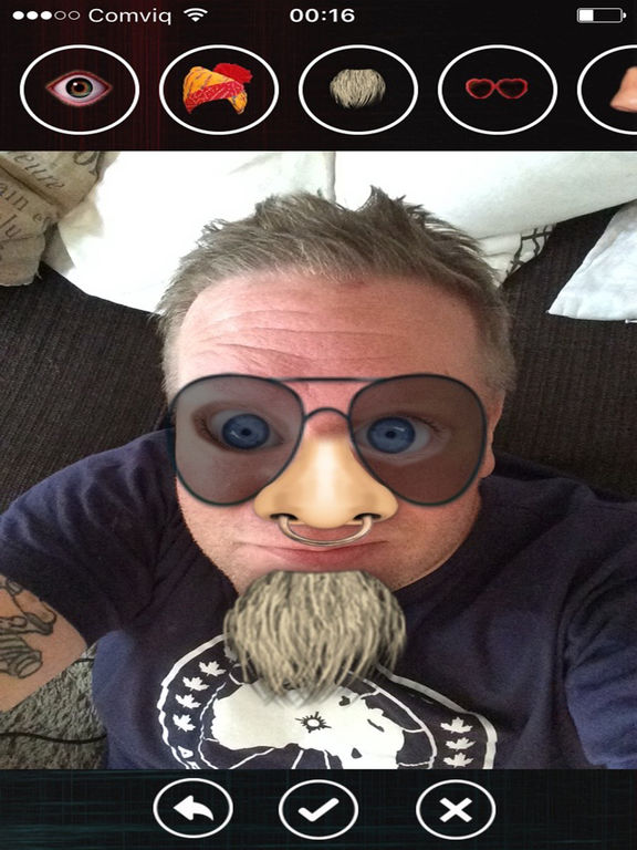 Funny faces - add stuff to photos! screenshot 9