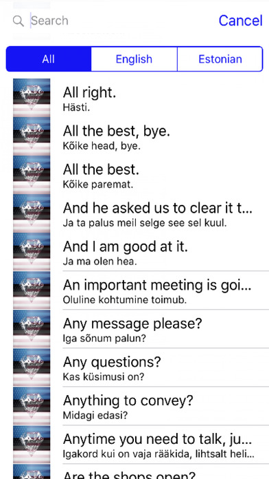 Estonian Phrases Diamond 4K Edition screenshot 1