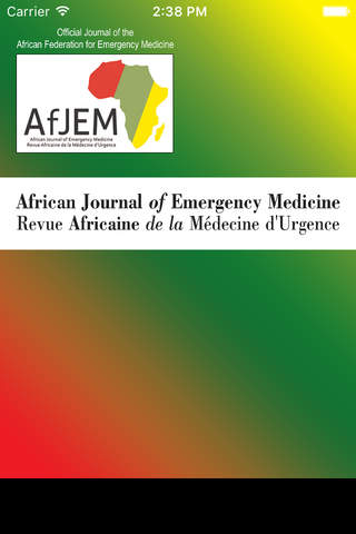 African Journal of Emergency Medicine - náhled