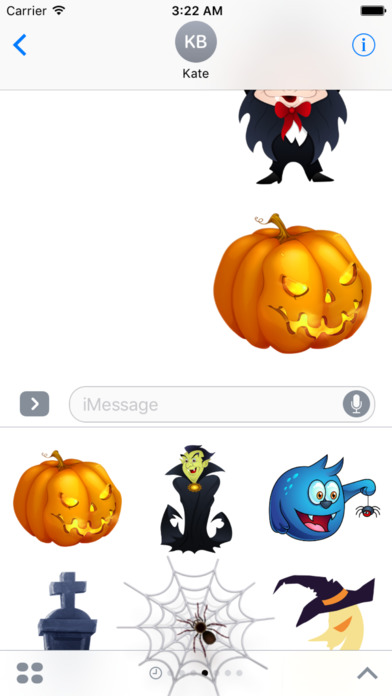 Halloween Creepy Stickers for iMessage screenshot 1