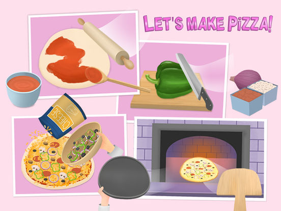 Baby Chef Sofia's Pizza Party - Cook, Clean & Dress Up screenshot 6