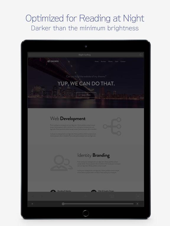 NightSurfing : Dark Night Web Browser screenshot #2