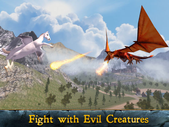 Flying Pegasus: Magic Horse Simulator 3D Full screenshot 7
