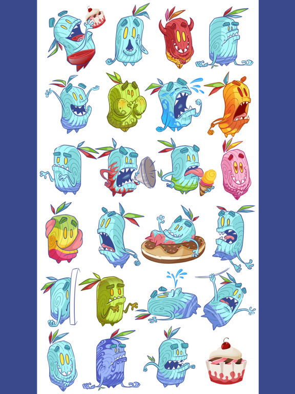 Cup Cake Monster Emoji Sticker screenshot 6