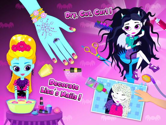 Monster Sisters Summer Party – Holiday Makeover screenshot 9