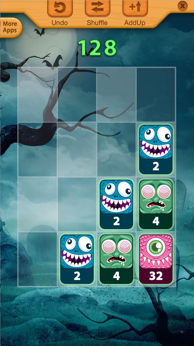 2048 Angry Monsters Puzzle screenshot 1