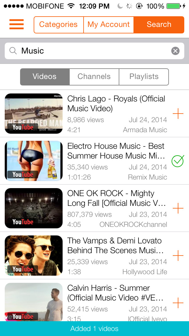 Tubesify - Music Player and Playlist Manager for YouTube (iPhone