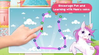 Free Kids Ponies Puzzle Teach me Tracing & Counting - Learn about pink ponies, cute fairies and princesses screenshot 4