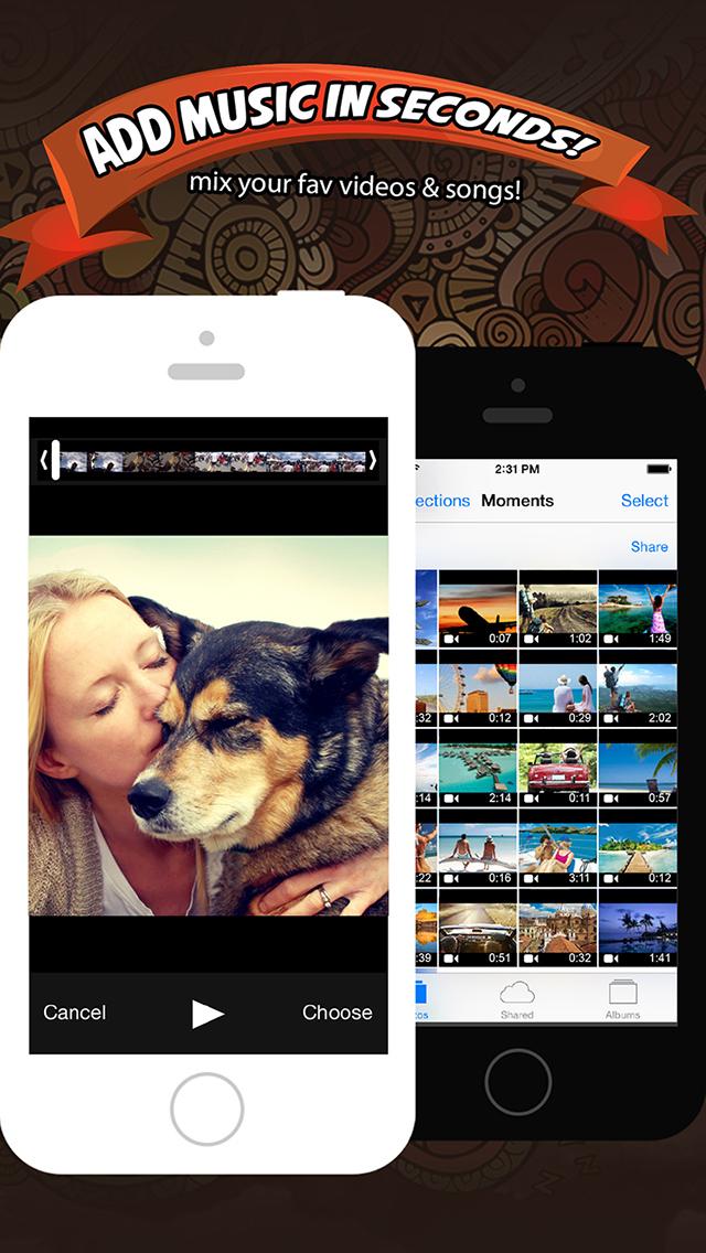 Add Music & Video Editor FREE - Enter Video-Shop screenshot 1