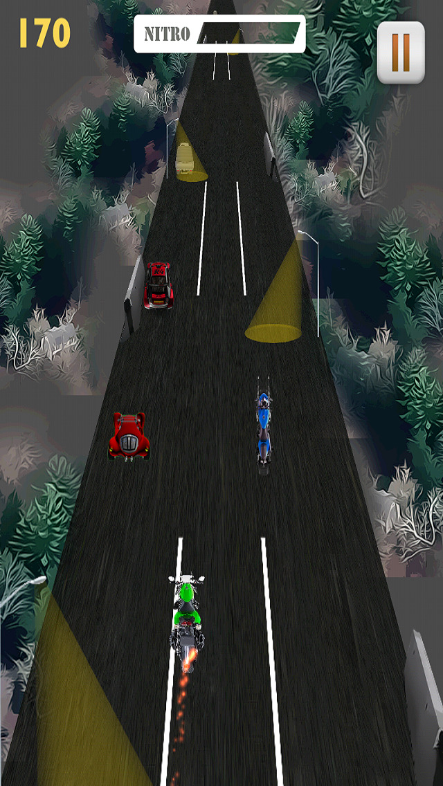 Motor Bike Night Rally Pro - Nitro Boost screenshot 3