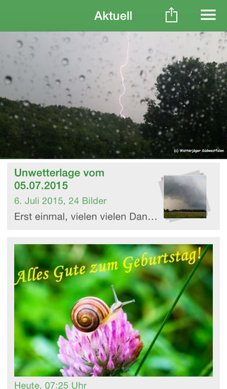 Wetterjäger Südwestfalen screenshot 1